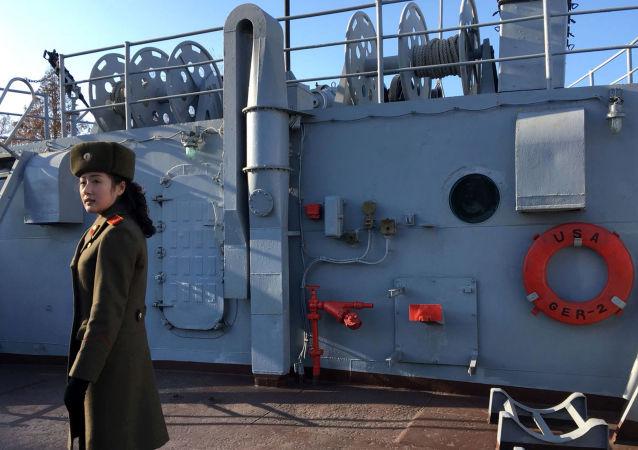 Le navire-espion américain Pueblo capturé par la marine de guerre nord-coréenne