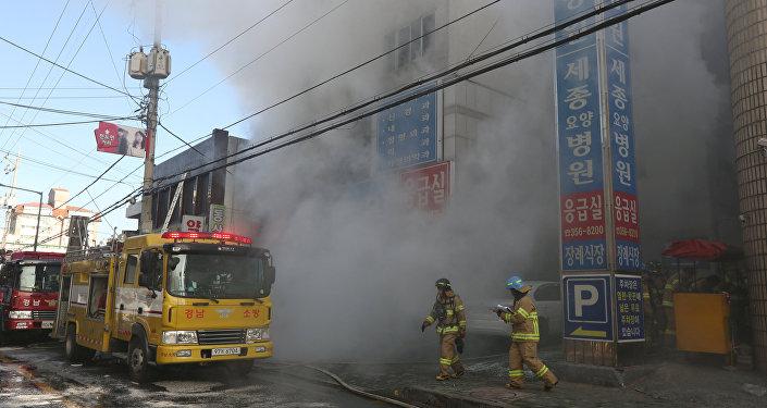 Incendie dans un hôpital de Miryang, en Corée du Sud