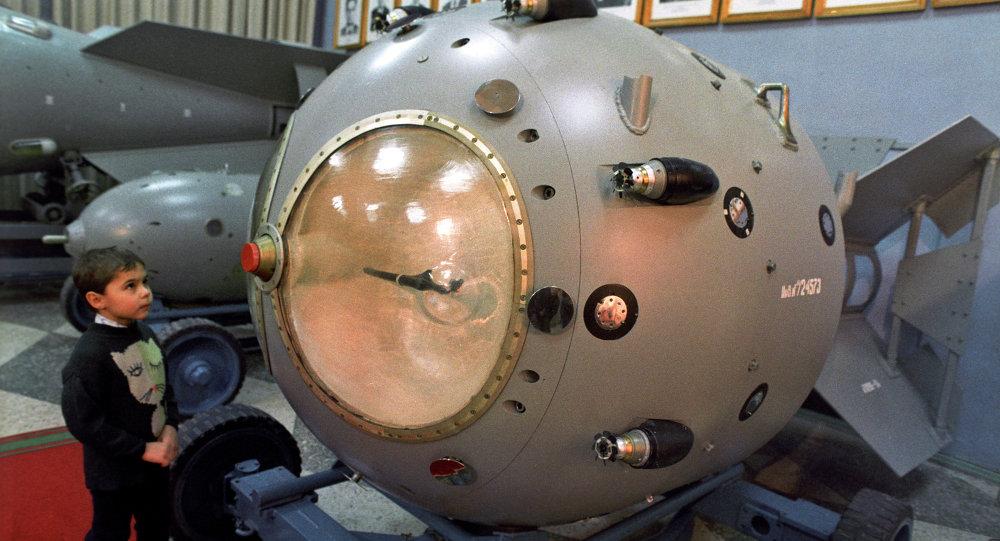 Une réplique de la première bombe nucléaire soviétique