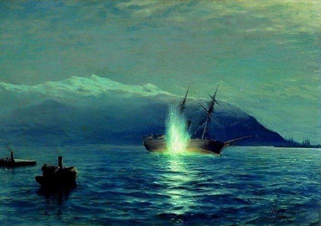 une torpille au combat