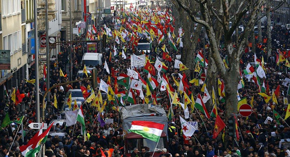 Manifestants pro-kurdes à Cologne, le 27 janvier 2018