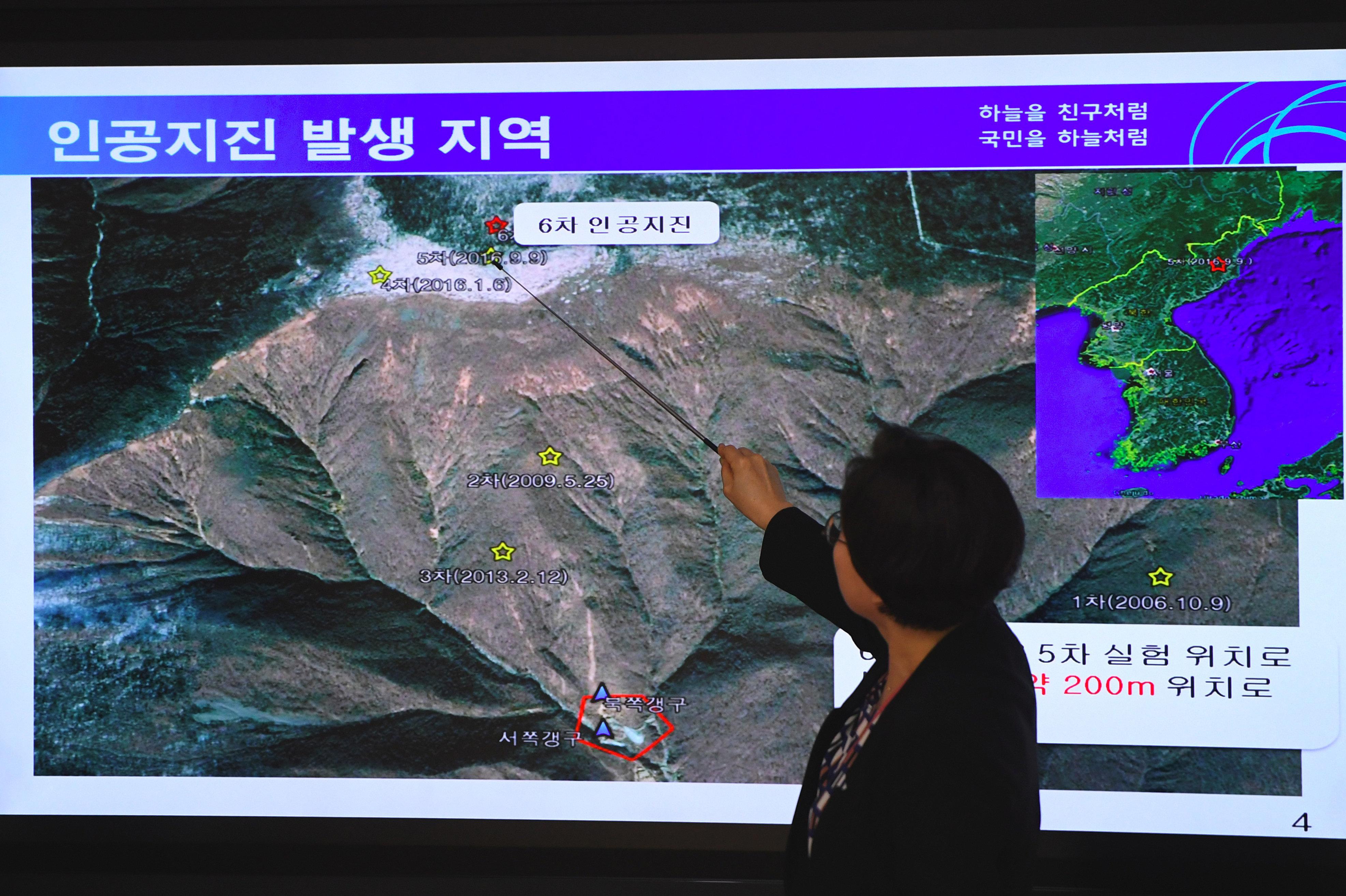 Vue de la Corée du Nord