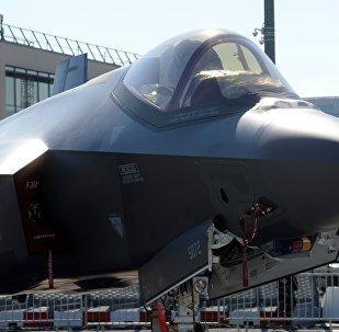Un Lockheed Martin F-35 Lightning II au salon du Bourget