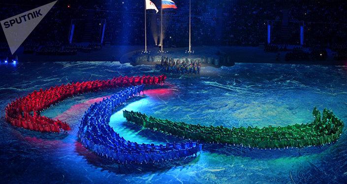 Cérémonie de clôture des Jeux paralympiques d'hiver 2014 à Sotchi