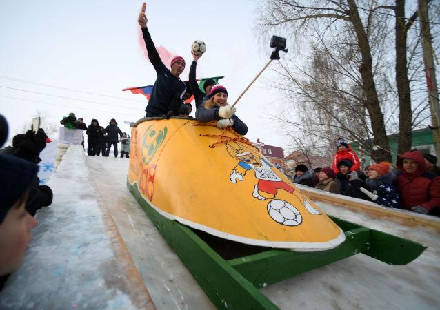 Festival de luges fantaisistes SunnyFEST au Tatarstan