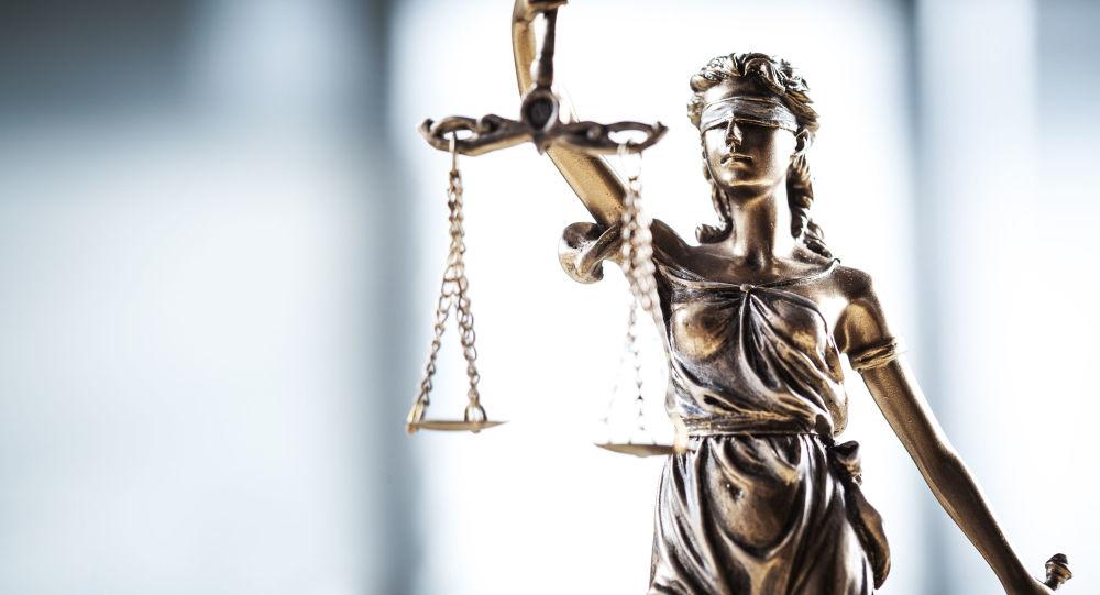 Statue de Thémis, déesse de la Justice, de la Loi et de l'Équité