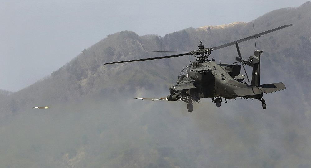 Hélicoptère US Apache