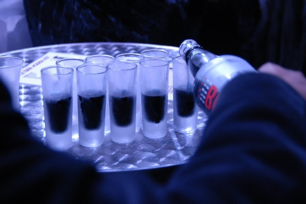 La vodka noire