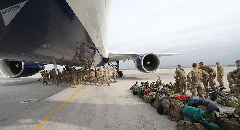 Centre de transport en transit de l'US Air Force sur la base de Manas