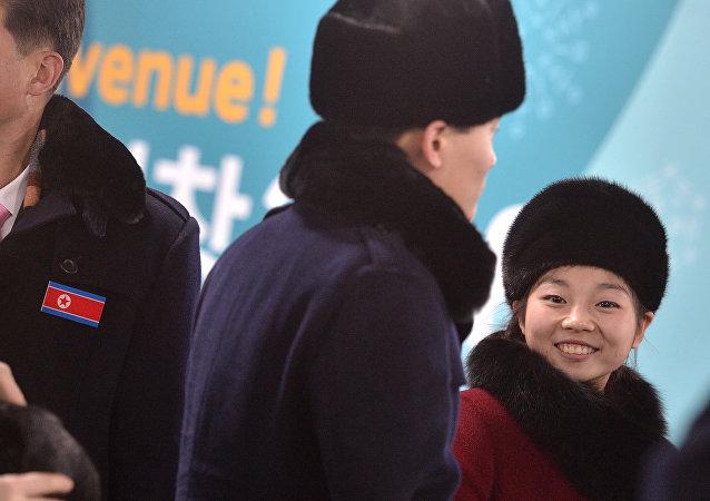 L'arrivée de la délégation nord-coréenne à Pyeongchang
