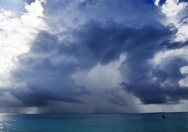 Orage sur océan