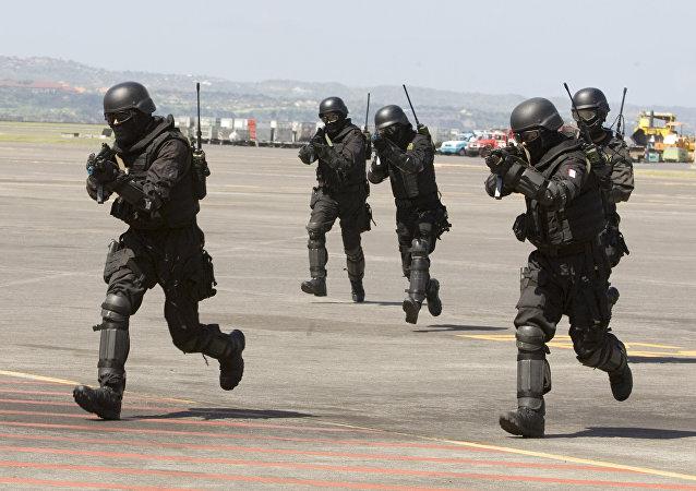 Des soldats indonésiens lors d'un exercice antiterroriste