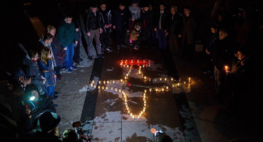 Cérémonie à la mémoire du pilote Roman Filipov mort en Syrie