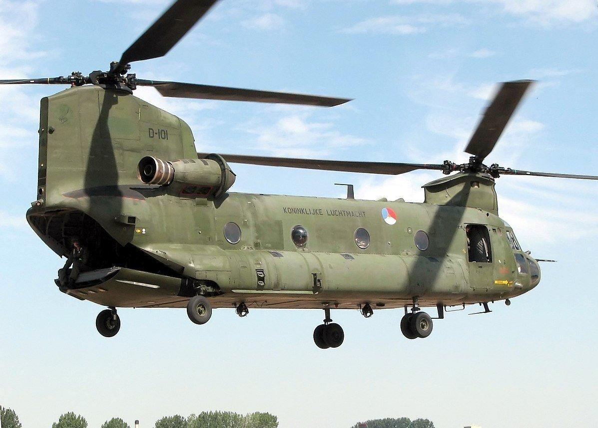 Un hélicoptère CH-47 Chinook