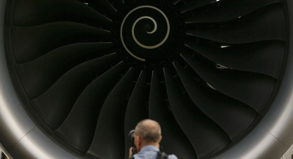 Le moteur d'un avion