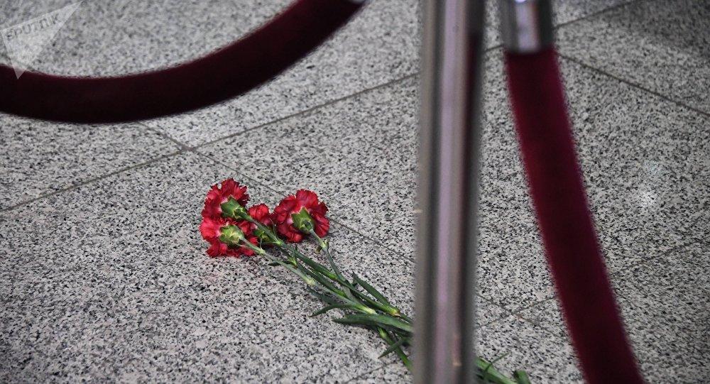 Fleurs dans l'aéroport de Domodedovo