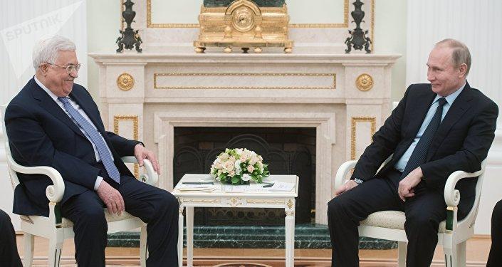 Mahmoud Abbas et Vladimir Poutine