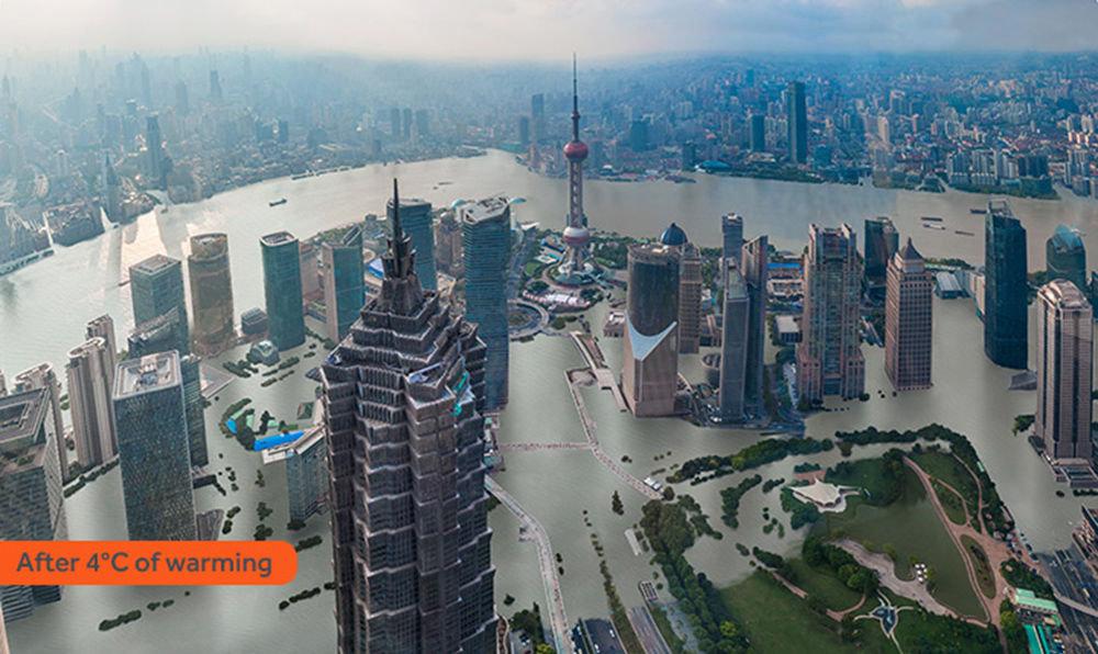 Shanghai sous les eaux