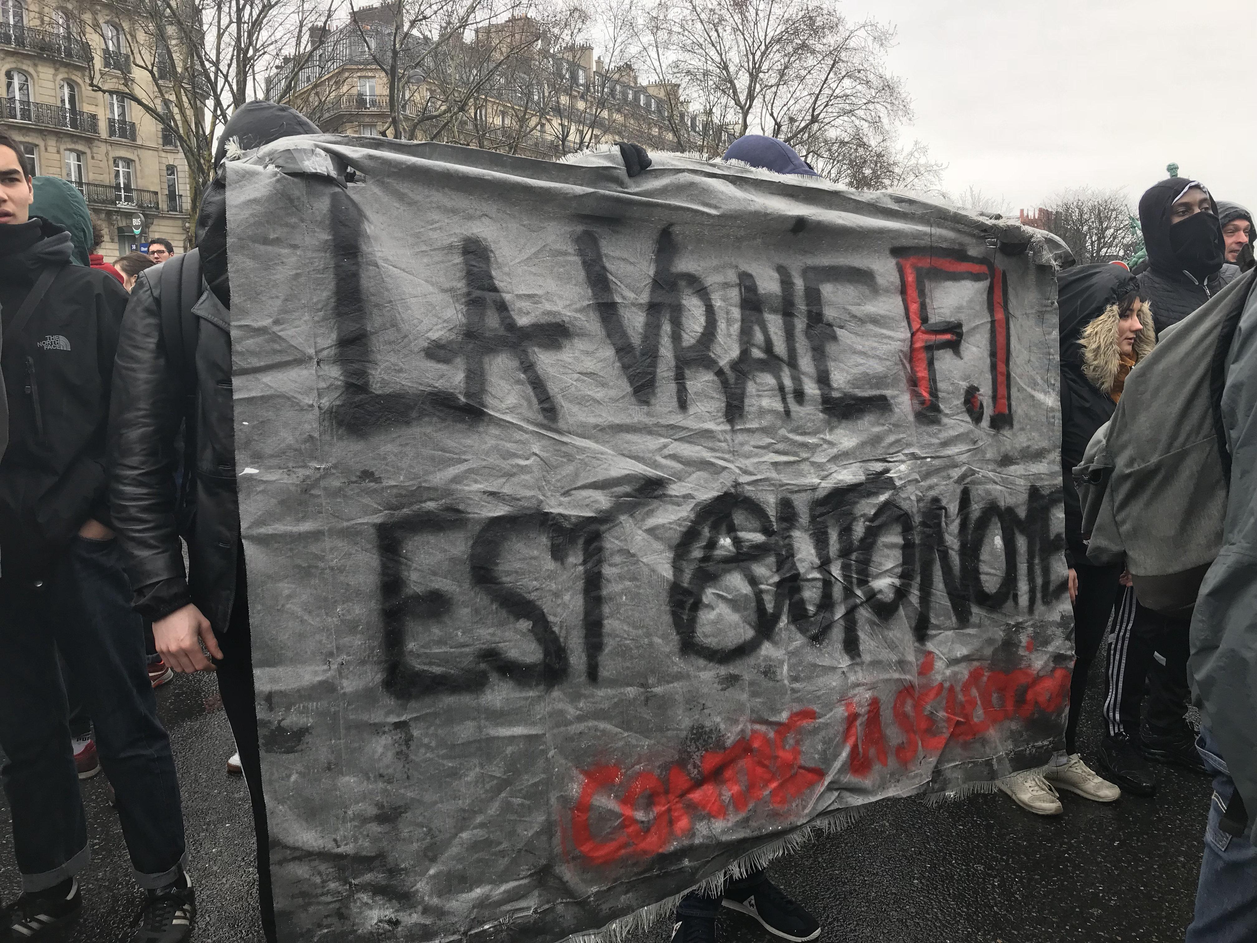 Troisième manifestation étudiante à Paris contre la sélection à l'université