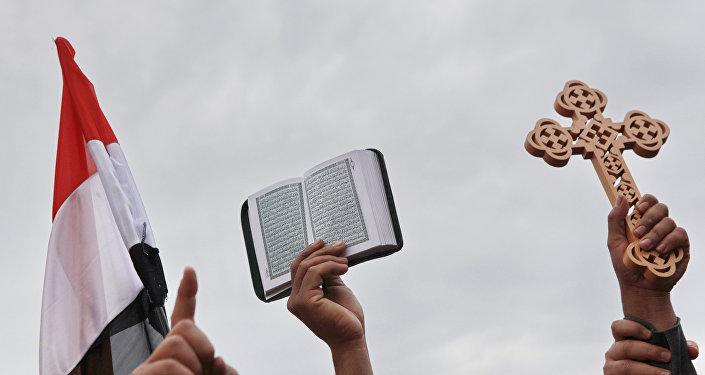 Des chrétiens coptes en Egyptes (image d'illustration)