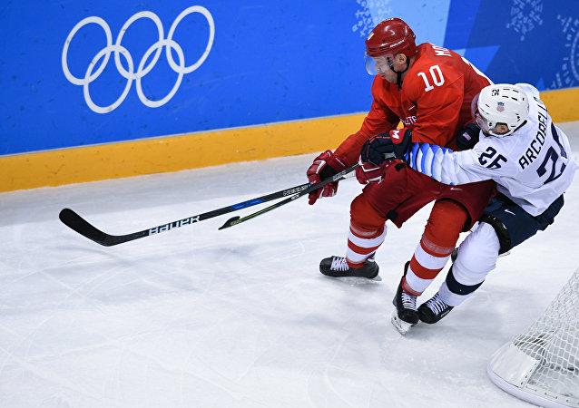Jeux Olympiques 2018. Hockey. Les hommes. Match Russie - Etats-Unis