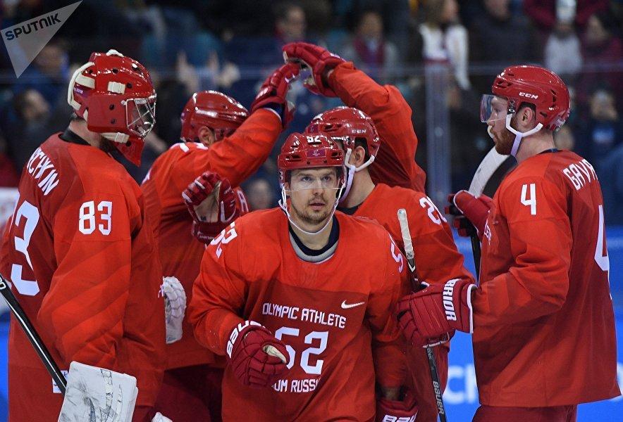 Match opposant les Russes aux Américains aux JO de Pyeongchang
