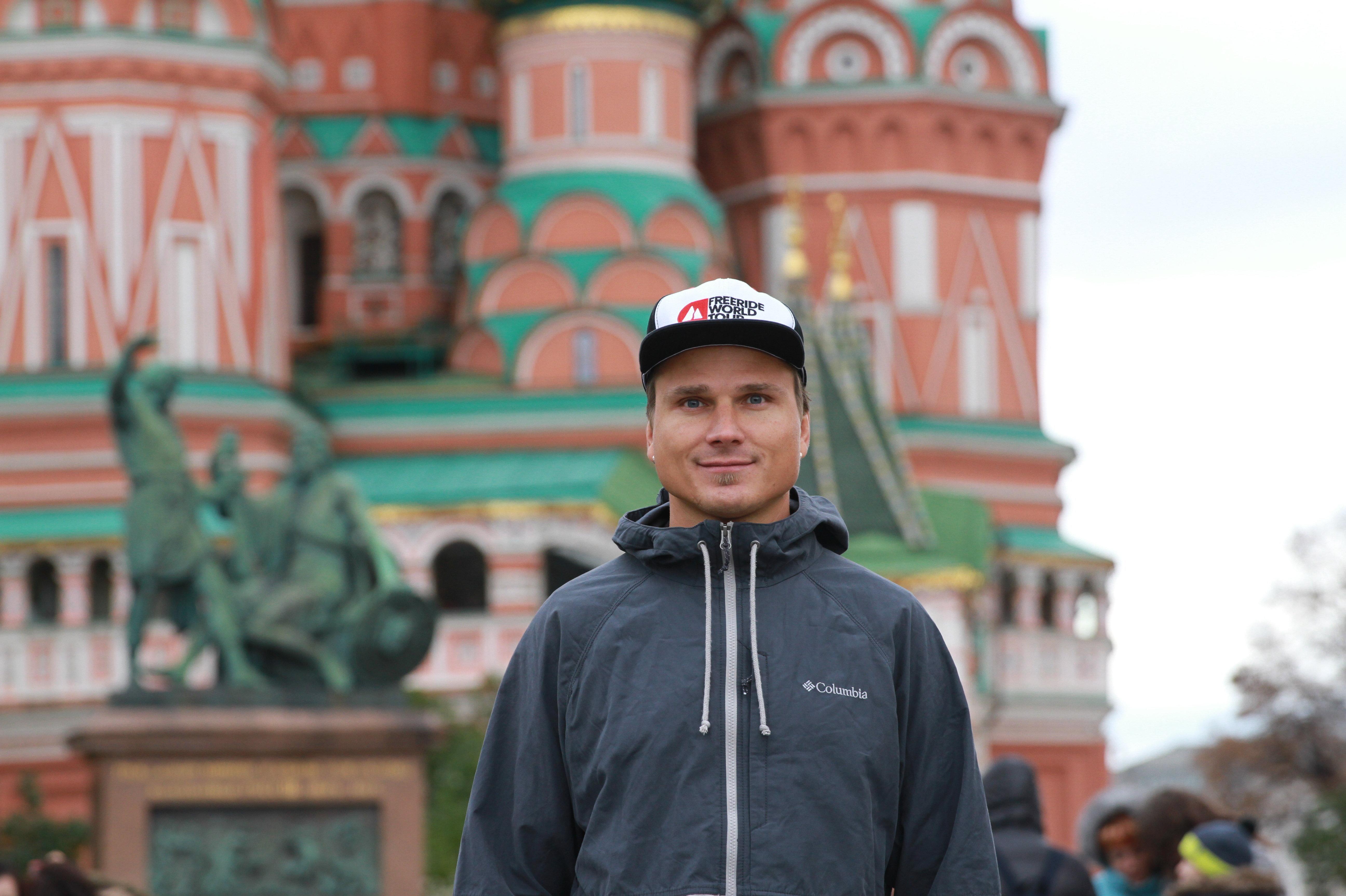 Ivan Malakhov à Moscou sur la Place Rouge
