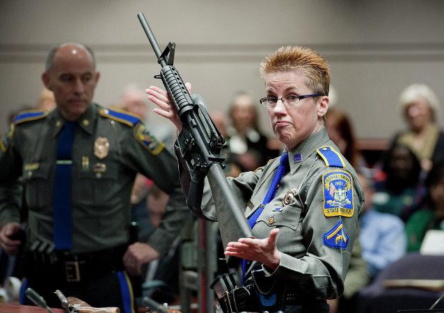 Un fusil AR-15
