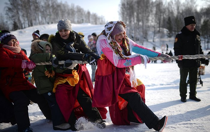 Célébration de Maslenitsa en Russie