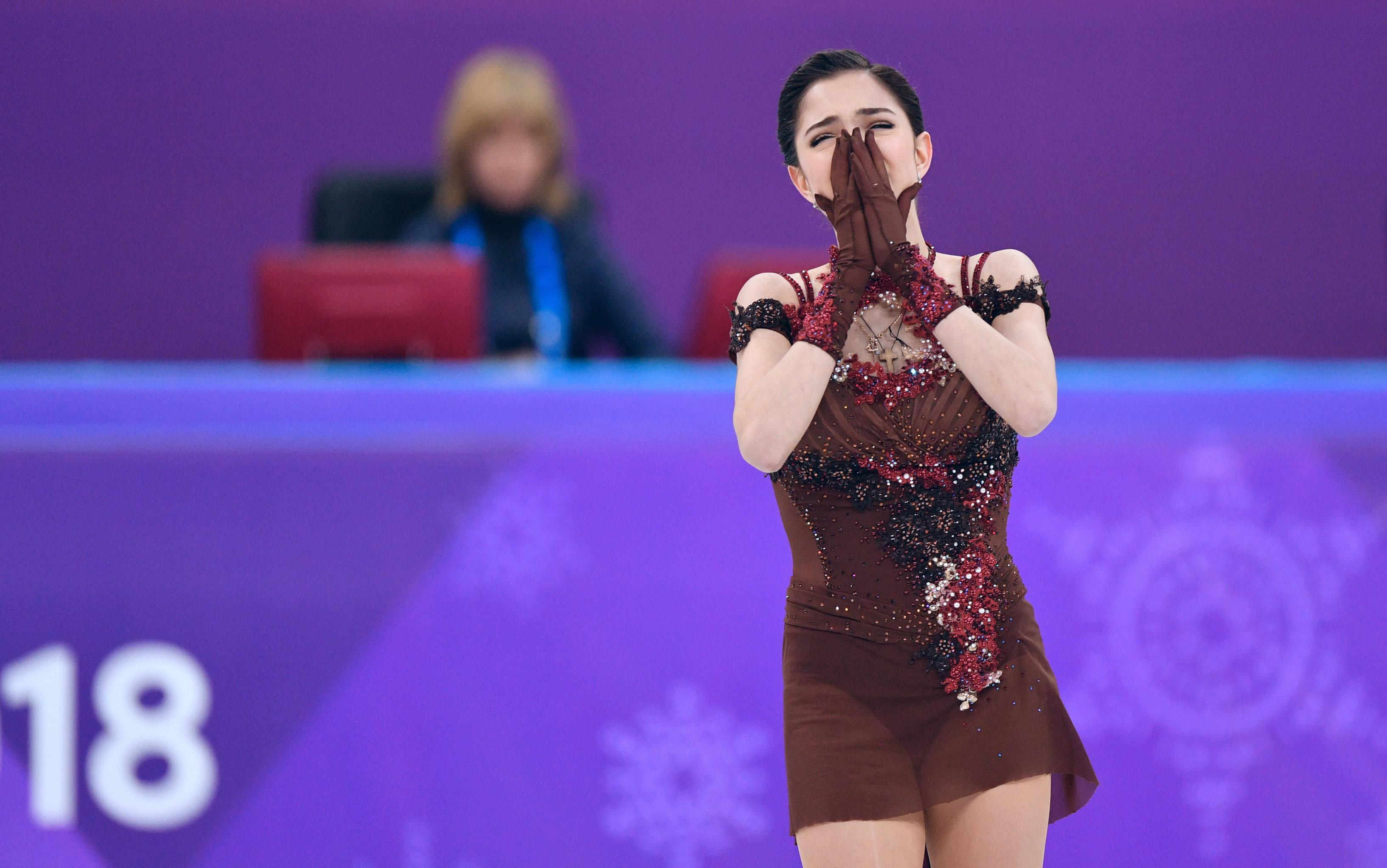 Evguenia Medvedeva pendant le programme libre