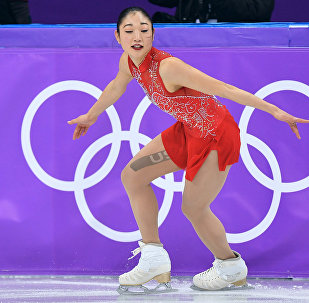 La patineuse américaine Mirai Nagasu aux Jeux olympiques 2018 de Pyeongchang