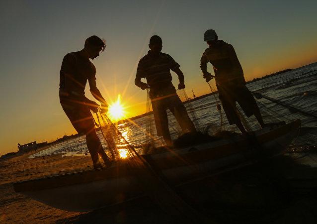 pêche, Palestine