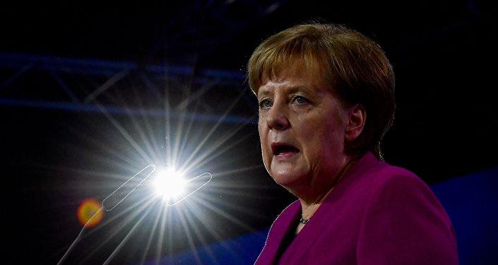 Angela Merkel lors du congrès de l'Union chrétienne-démocrate d'Allemagne (CDU) à Berlin, le 26 février 2018