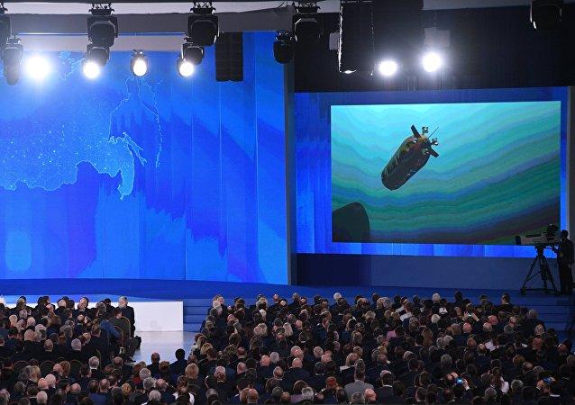 Vladimir Poutine a présenté lors de son discours annuel les nouvelles armes russes, dont des drones sous-marins à propulsion nucléaire ou encore des missiles hypersoniques.