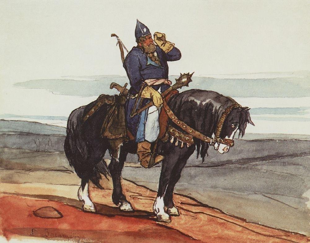 Viktor Vasnetsov. Un preux. 1878.