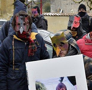 Manifestation à Bure le 3 mars 2018