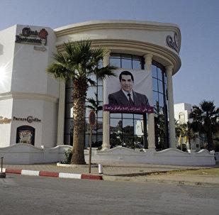 Portrait de l'ex-Président tunisien Zine Abidine Ben Hamda Ben Ali