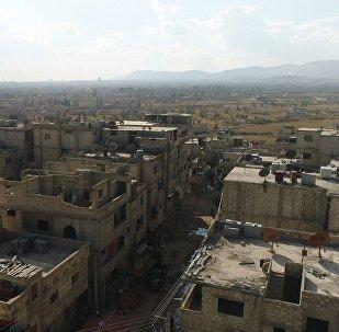 Couloir humanitaire dans la Ghouta orientale, image d'illustration