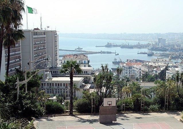 Vue sur le siège du Gouvernement qui abrite le Ministère de l'Intérieur