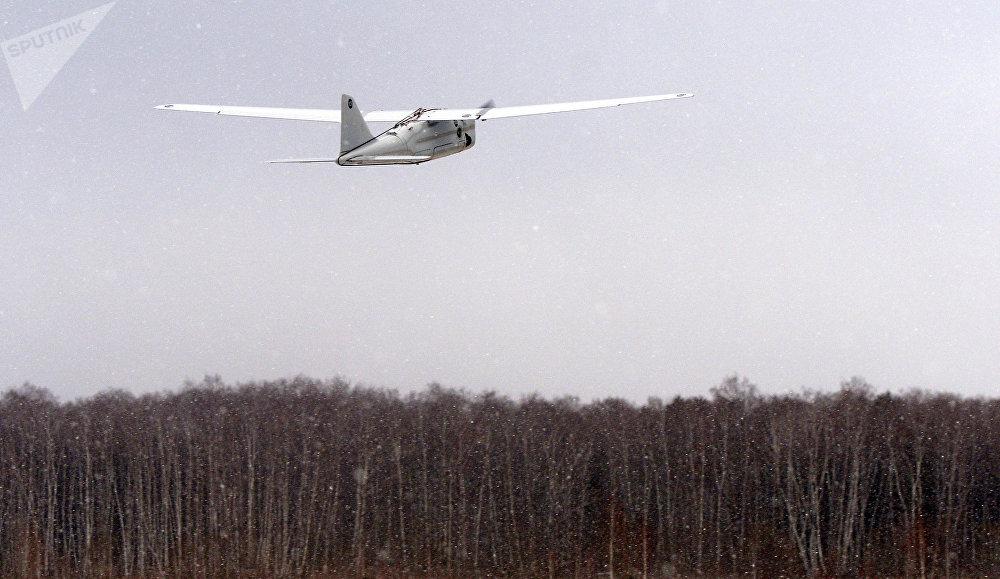 Lancement d'un drone Orlan-10