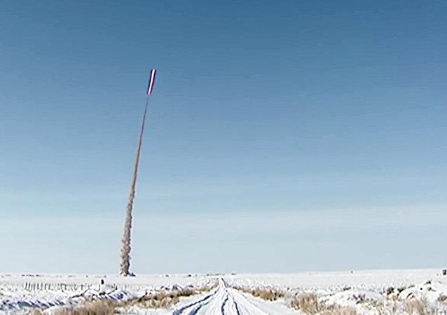 Un tir d'essai d'un missile sol-air russe
