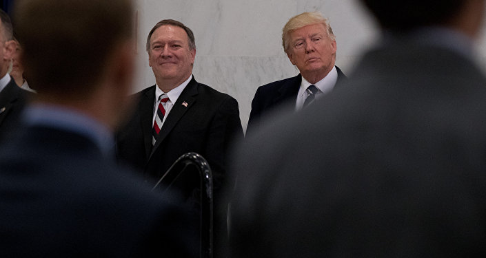 Donald Trump et Mike Pompeo