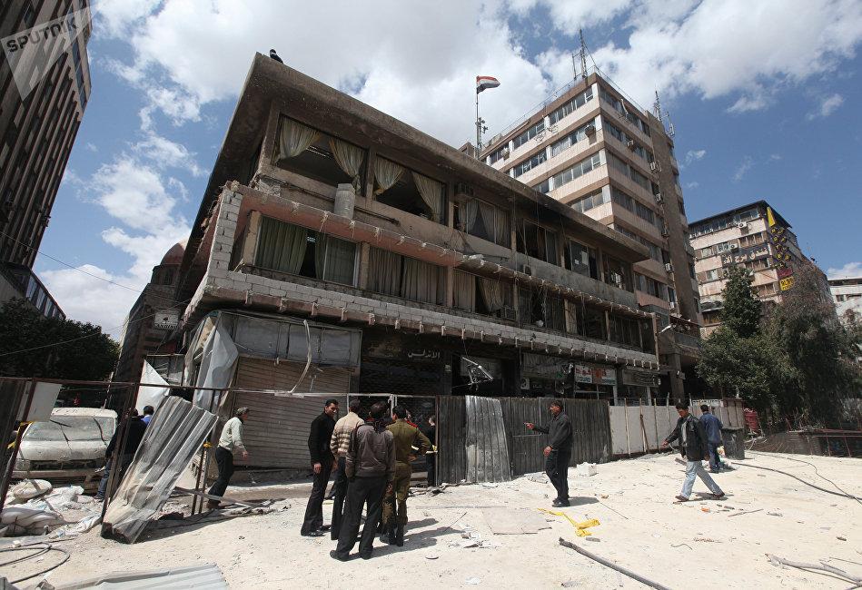 Avril 2012, un attentat contre une gendarmerie à Damas