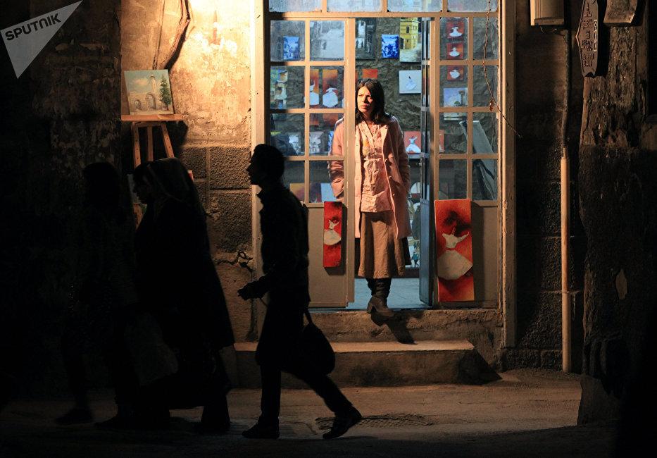 Février 2011. Une ruelle de Damas à plus d'un mois du début des événements