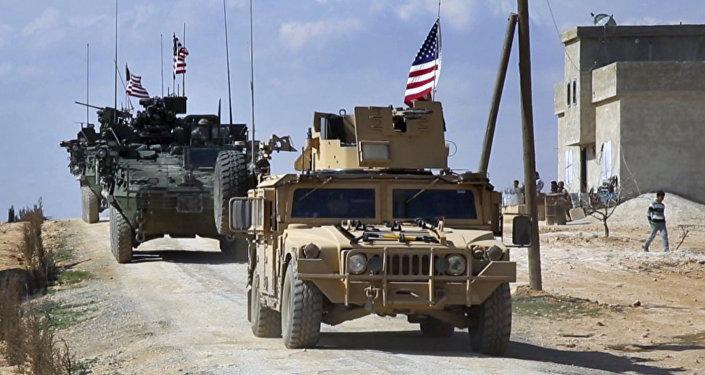 Militares US à Manbij en Syrie