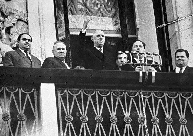 Général De Gaulle à Moscou