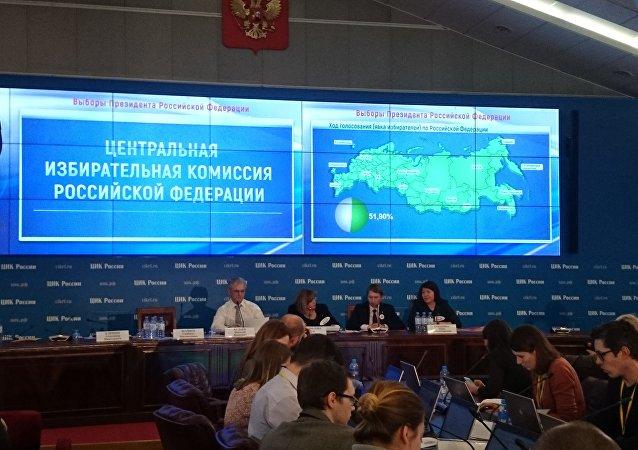 Le tableau de la Commission électorale centrale de Russie