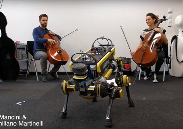 Robot ANYmal Dancing to Live Music