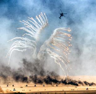 Exercices militaires au Koweït. Image d'illustration