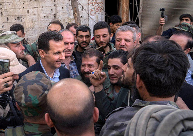 Le Président syrien en visite dans la Ghouta orientale